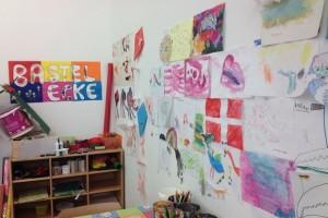 Bunt gestaltete Wände